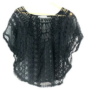 Maurice's black lace top M oversize fit